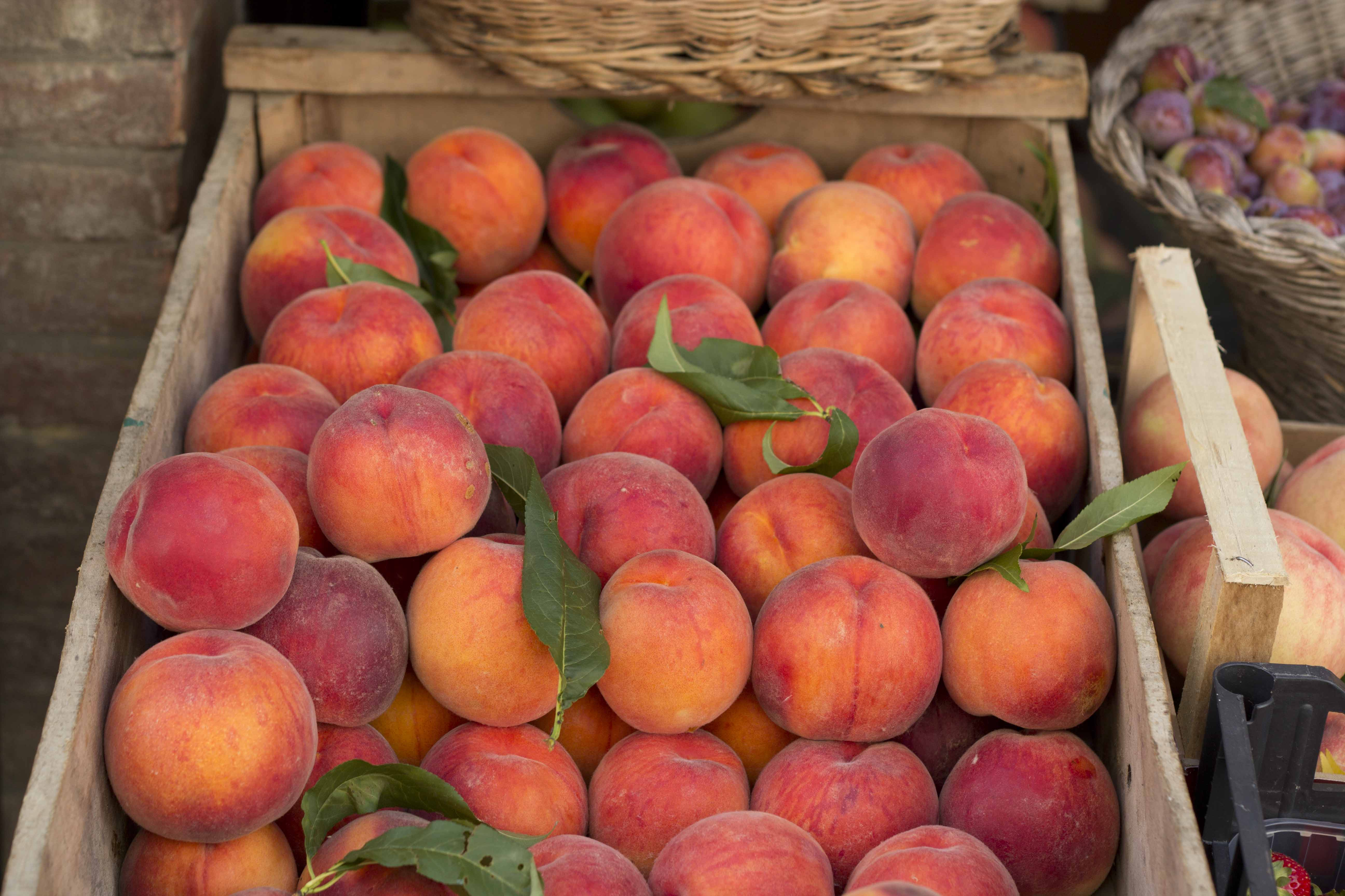 A marriage of seasons: baked, stuffed peaches