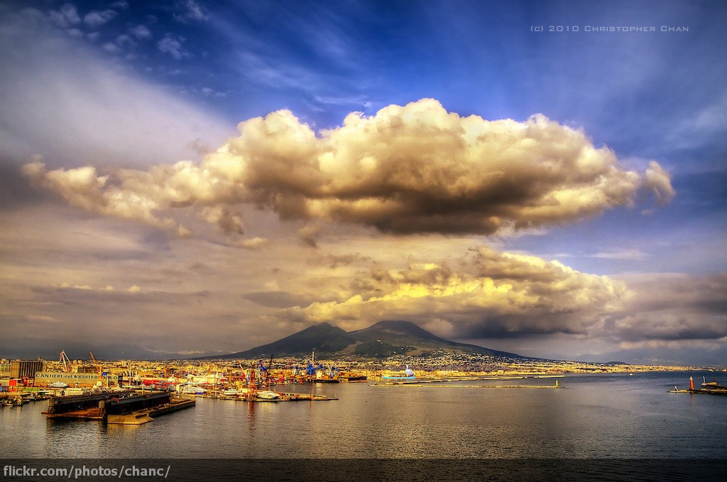 Bay of Naples and Vesuvius by Christopher Chan