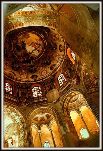 Inside San Vitale in Ravenna by Luca Argalia