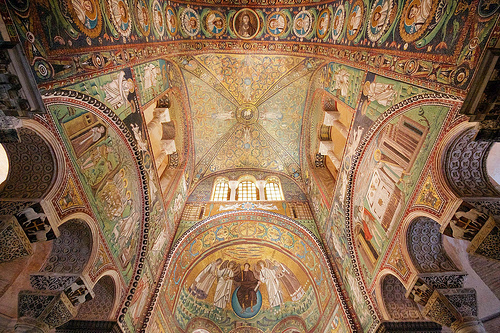 Inside San Vitale, Ravenna by Nick Thompson