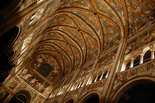 Inside the Cathedral in Parma by Antonio Trogu