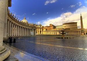 Piazza San Pietro by Gaspar Serrano