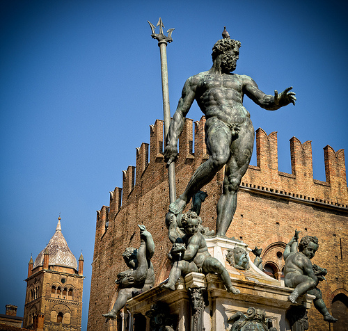 Piazza del Nettuno in Bologna by Scott D. Haddow