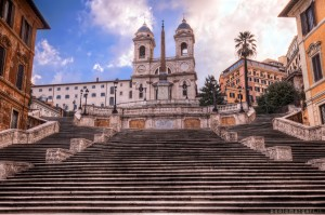 Spanish steps by Paolo Magari