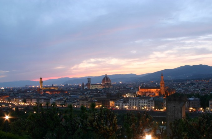 Firenze from Piazza Michelangelo by Denny Schmickle