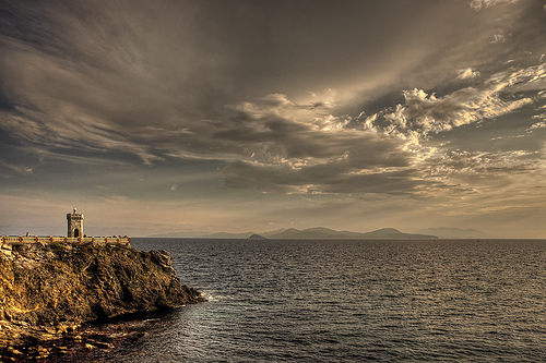 Lighthouse on Elba Island by Giuseppe Moscato
