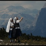 Nuns admiring the scenery by Lorenzo Maddalena