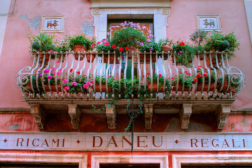 Terrace in Taormina