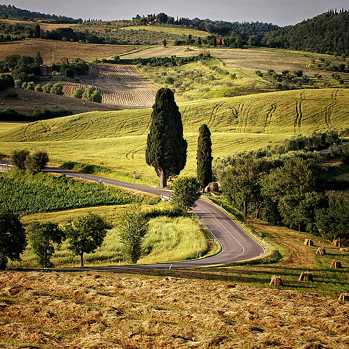 Tuscan countryside by Edgar Barany