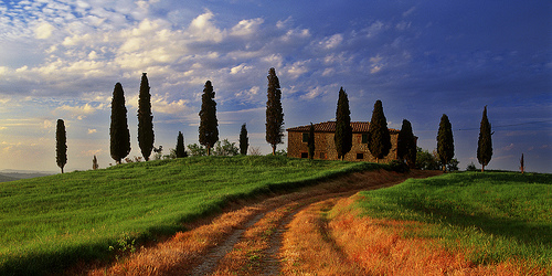 Villa in Val d'Orcia by Mark Wassell