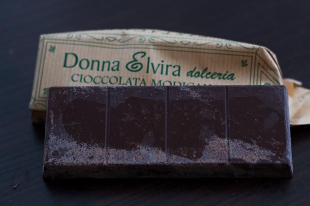 Cioccolato di Modica (cold-conched chocolate)