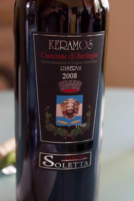 Keramos Cannonau di Sardegna DOC, Tenute Soletta
