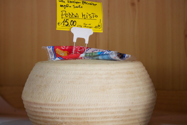 Podda mista a grainy mixed cow and ewe's milk cheese)