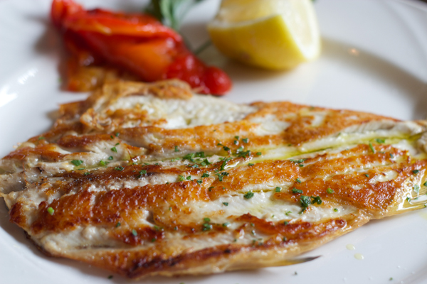 Coregone alla griglia (grilled European whitefish)