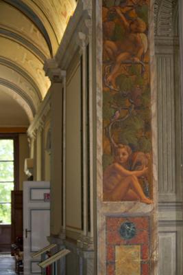 Frescoes inside Villa Carlotta