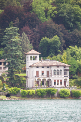 View of a villa from Tremezzo