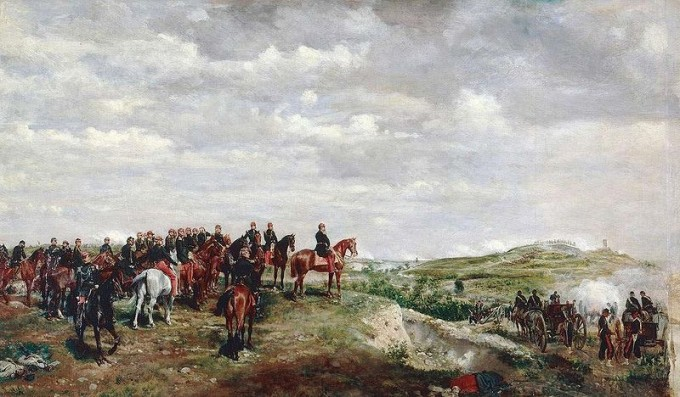 Napoléon III at the Battle of Solferino by  Jean-Louis-Ernest_Meissonier (PD-old)