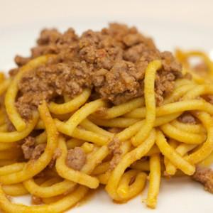 Spaghetti bolognese Venetian style