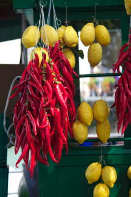 Lemons and chillies in Northern Italy!