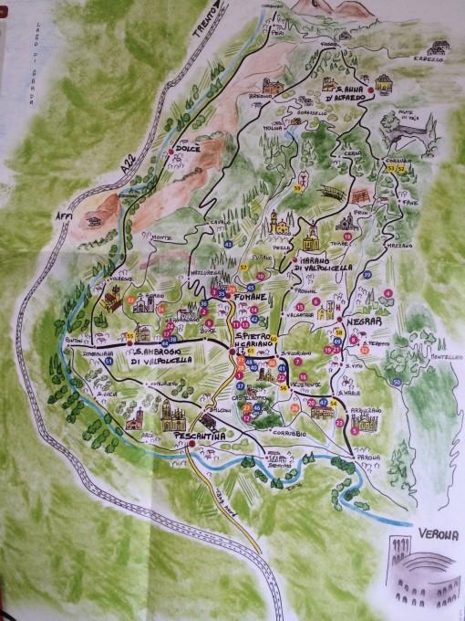 Map of Valpolicella
