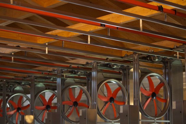 The drying room fans