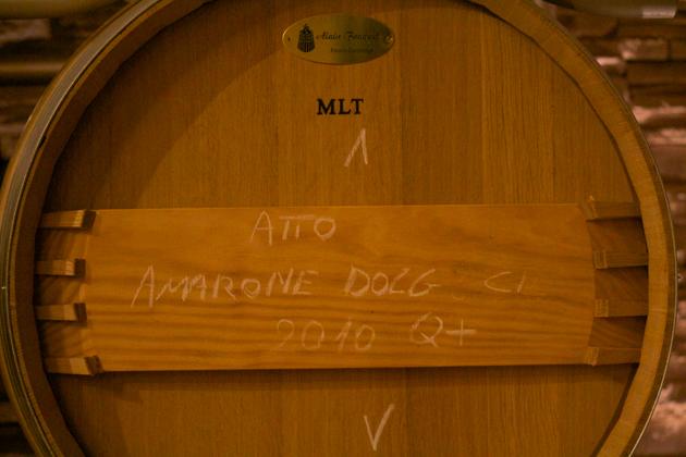 2010 Amarone in cask