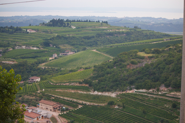 Valpolicella with Lake Garda in the distance