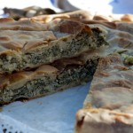 Torta verde (savoury pie of chard, artichokes and ricotta)