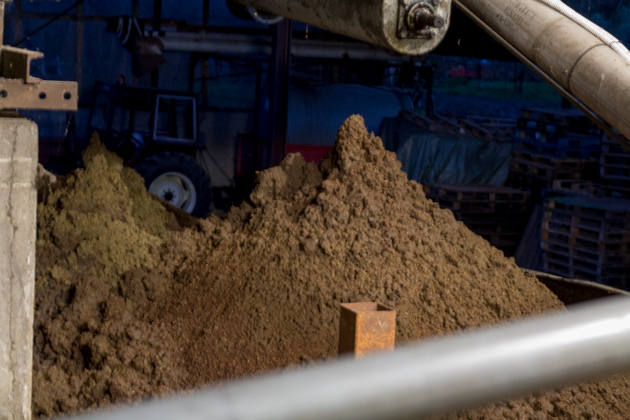 The mountain of pulp to be sold to biogas firms