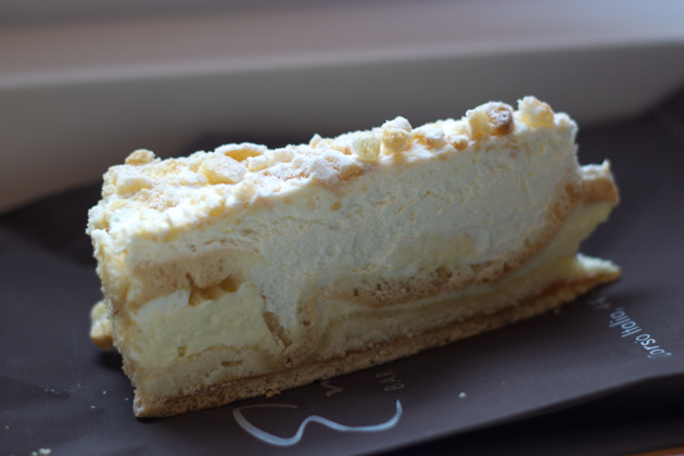 Flockentorte (layered pastry, custard and cream)