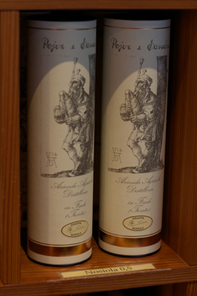 Grappa made from Nosiola grapes