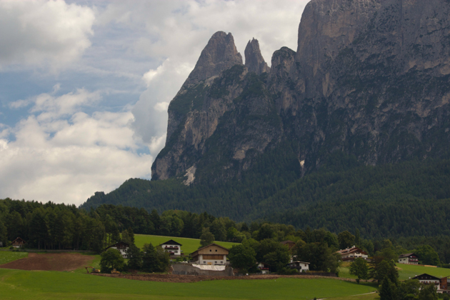 The Dolomite backdrop