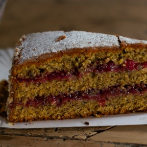 Buckwheat and jam cake