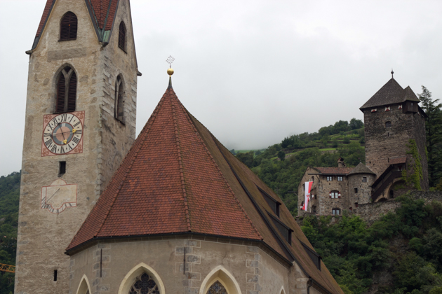 View of the church and Castle Branzoll