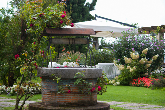 Breakfast in the garden at Villa Cipriani, Asolo