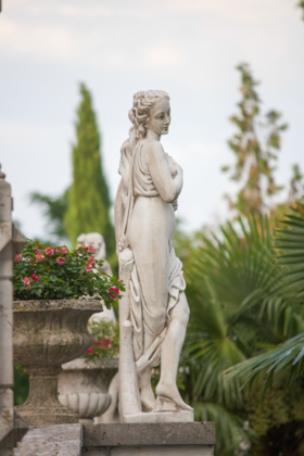 A garden sculpture in Castello di Spessa