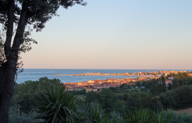View of Fano from Villa Giulia, Le Marche