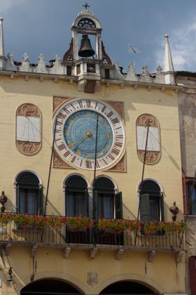 24 hour clock in Piazza Libertà, Bassano del Grappa