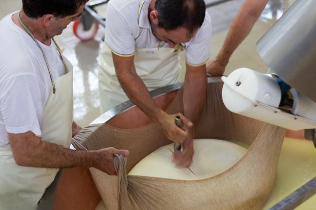 Making Parmigiano-Reggiano