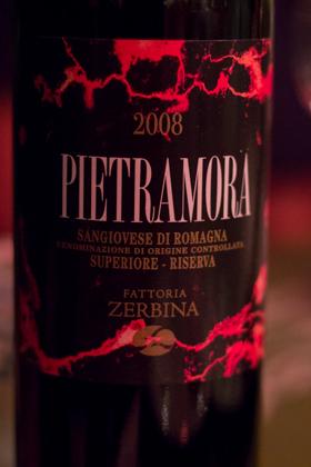 Pietramora, Sangiovese di Romagna Superiore Riserva 2008, Fattoria Zerbina