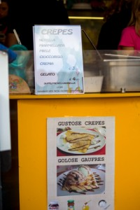 A good gelateria usually does not offer lots of options- waffles, crepes, brioche, pre-made ice cream sandwiches, etc.