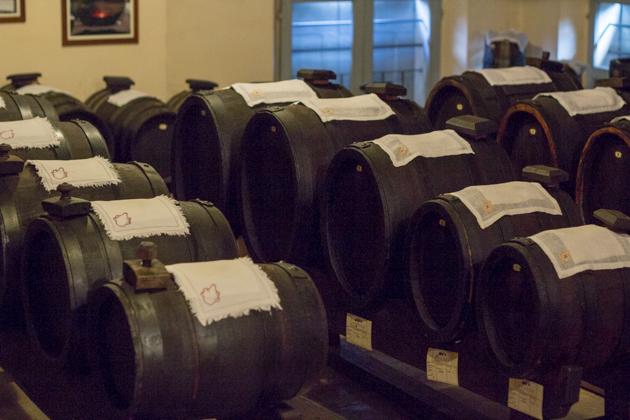 Barrels of traditional balsamic vinegar