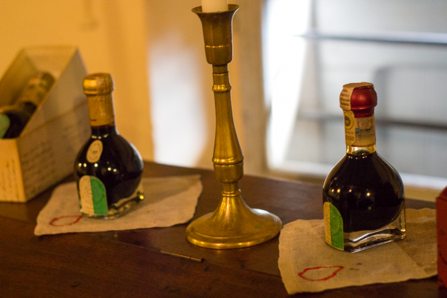 Modena's traditional balsamic vinegar: extra-vecchio (25 years old on the left) and affinato (12 years old on the right)