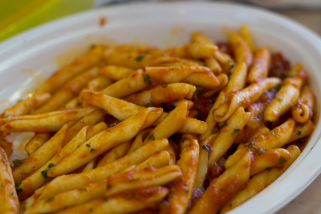 Calabrian pasta with nduja (spicy sausage)