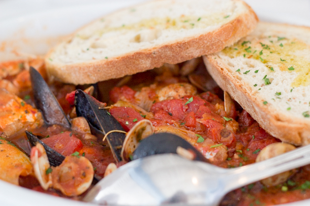 Il Molo's brodetto (fish and seafood stew)