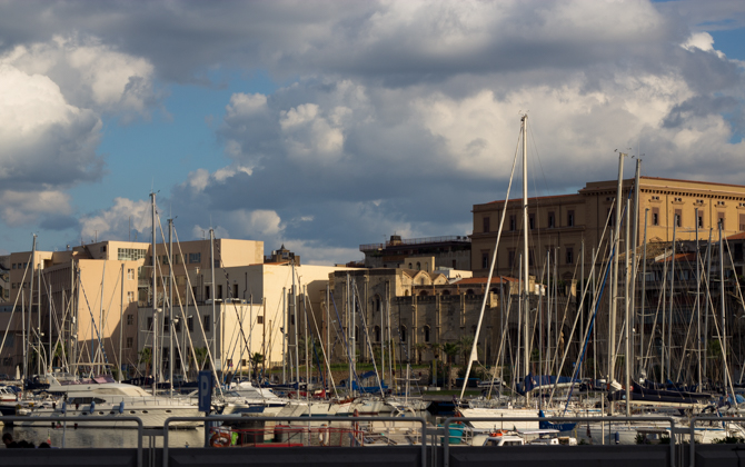 The port near Piazza Marina
