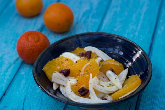 Orange, olive and fennel salad