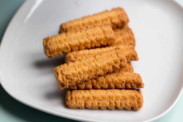 Krumiri / Crumiri / Biscotti del Monferrato (ridged, curved cornmeal butter biscuits)