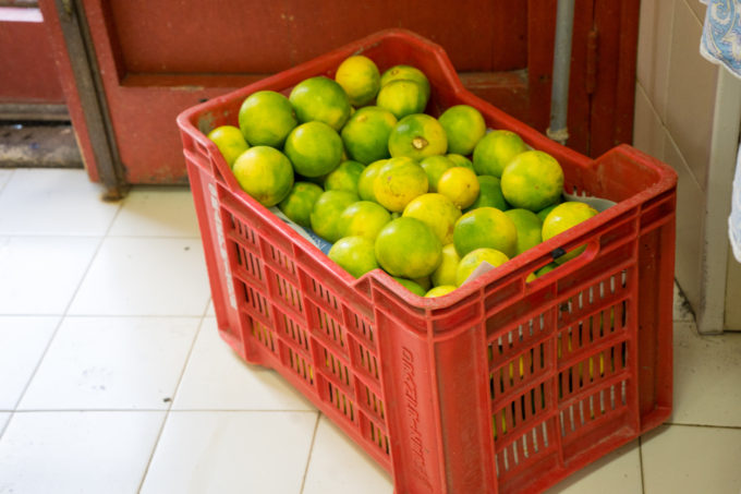Crates of oranges to make marmalade