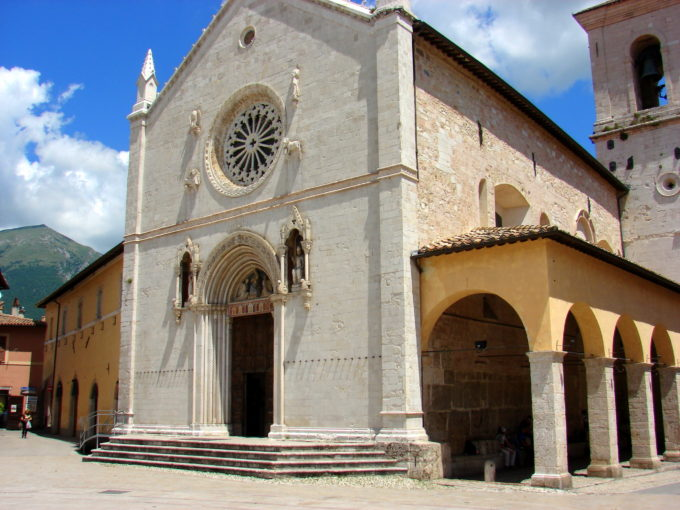 Basilica di San Benedetto in Norcia, Umbria by Kathy Simon